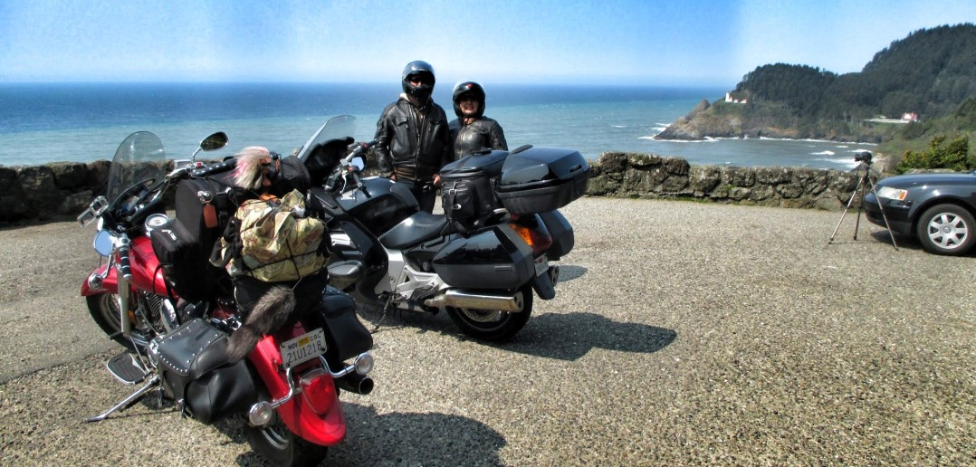 heceta head lighthouse motorcycles