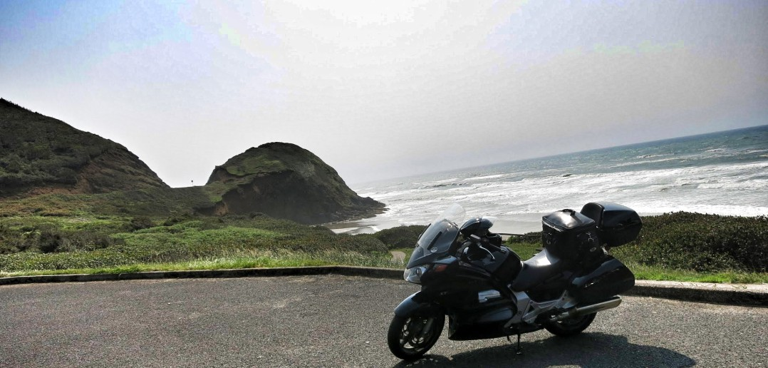 motorcycle coastline
