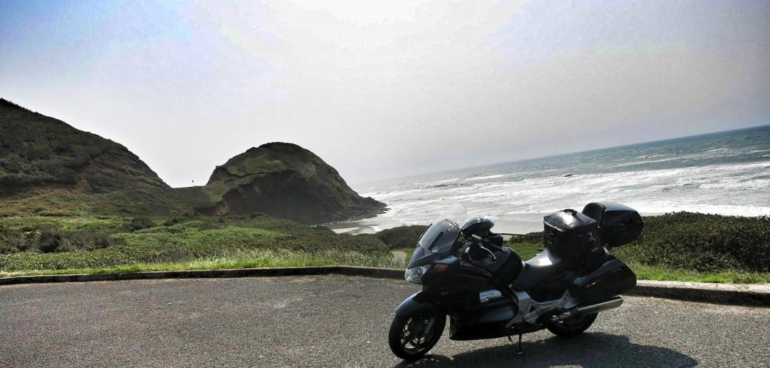 motorcycle coastline