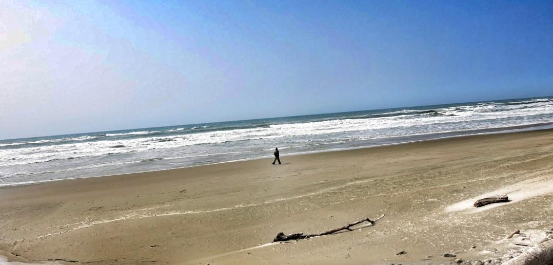 sash on the beach