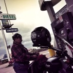 biker chick gas station
