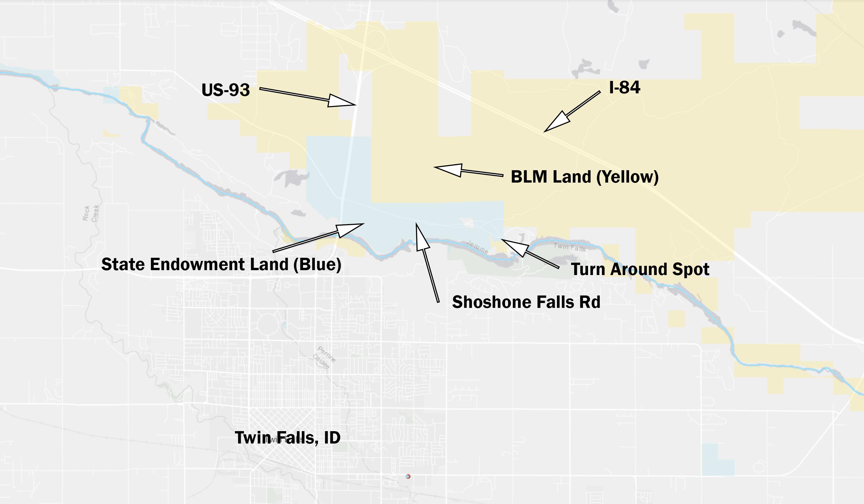 Blm Land Idaho Map.Blm Map Shoshone Falls Road Road Pickle