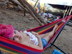 camping in an hammock