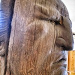 crazy horse wood carving