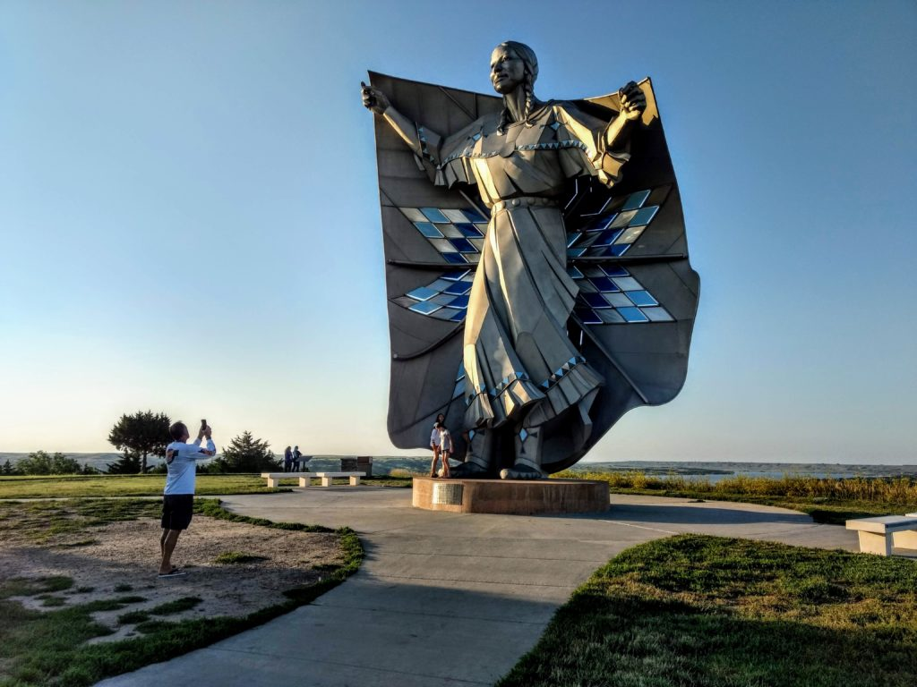 dignity statue, chamberlain, south dakota