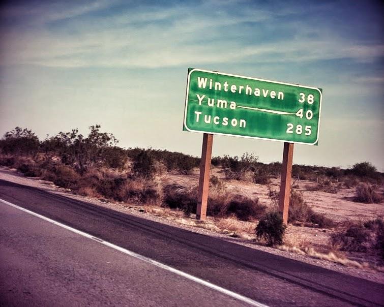 San Diego, CA to Yuma, AZ: Feb 28, 2015 - Road Pickle