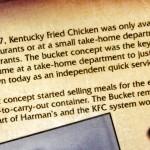 history of the KFC bucket of chicken