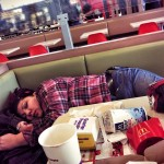 sleeping at mcdonalds