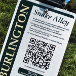 snake alley road sign